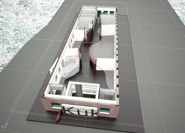 Modell zum Umbau des deutschen Zollhauses, 2008
