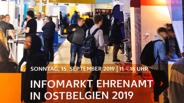 Broschürentitel Infomarkt Ehrenamt in Ostbelgien 2019
